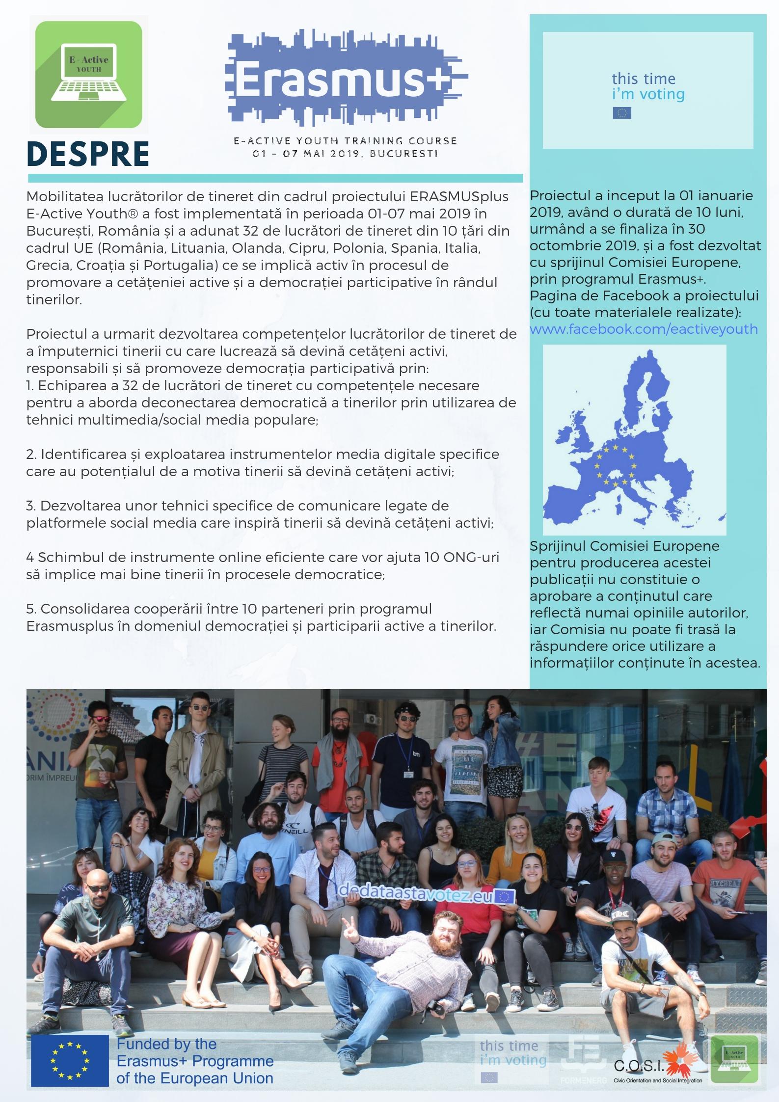 Proiectul E-Active Youth