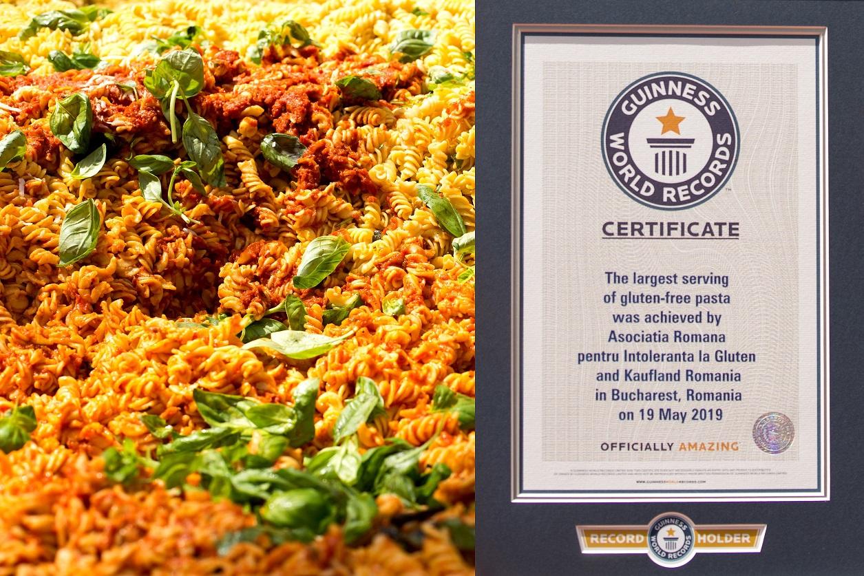 România a intrat în Cartea Recordurilor cu cea mai mare porție de paste fără gluten, gătită la târgul Happy Gluten Free 2019