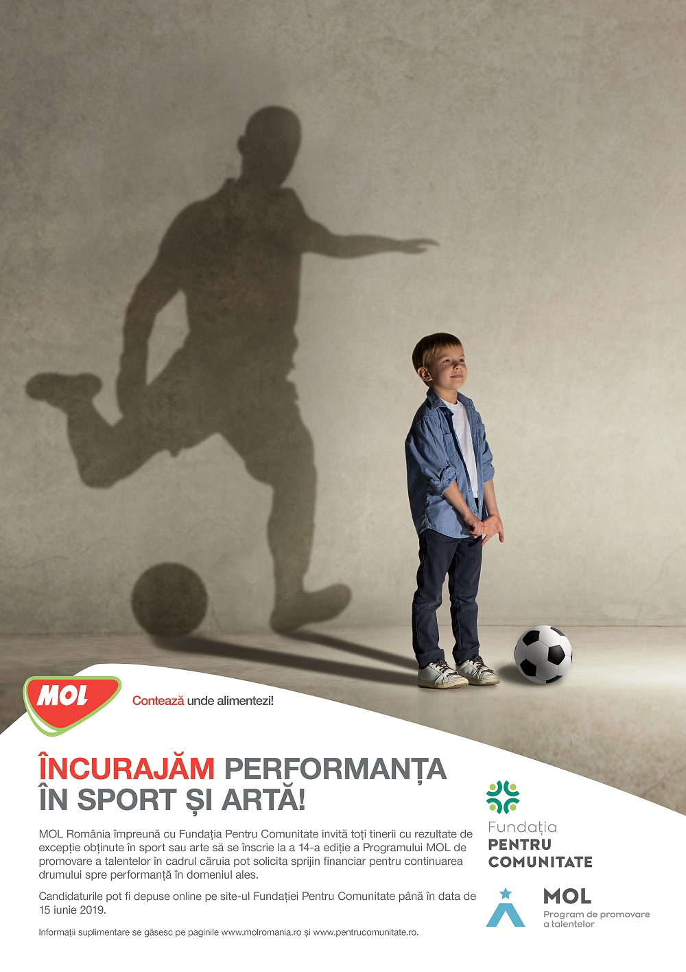 Sprijin financiar acordat tinerilor sportivi È™i artiÈ™ti prin Programul MOL