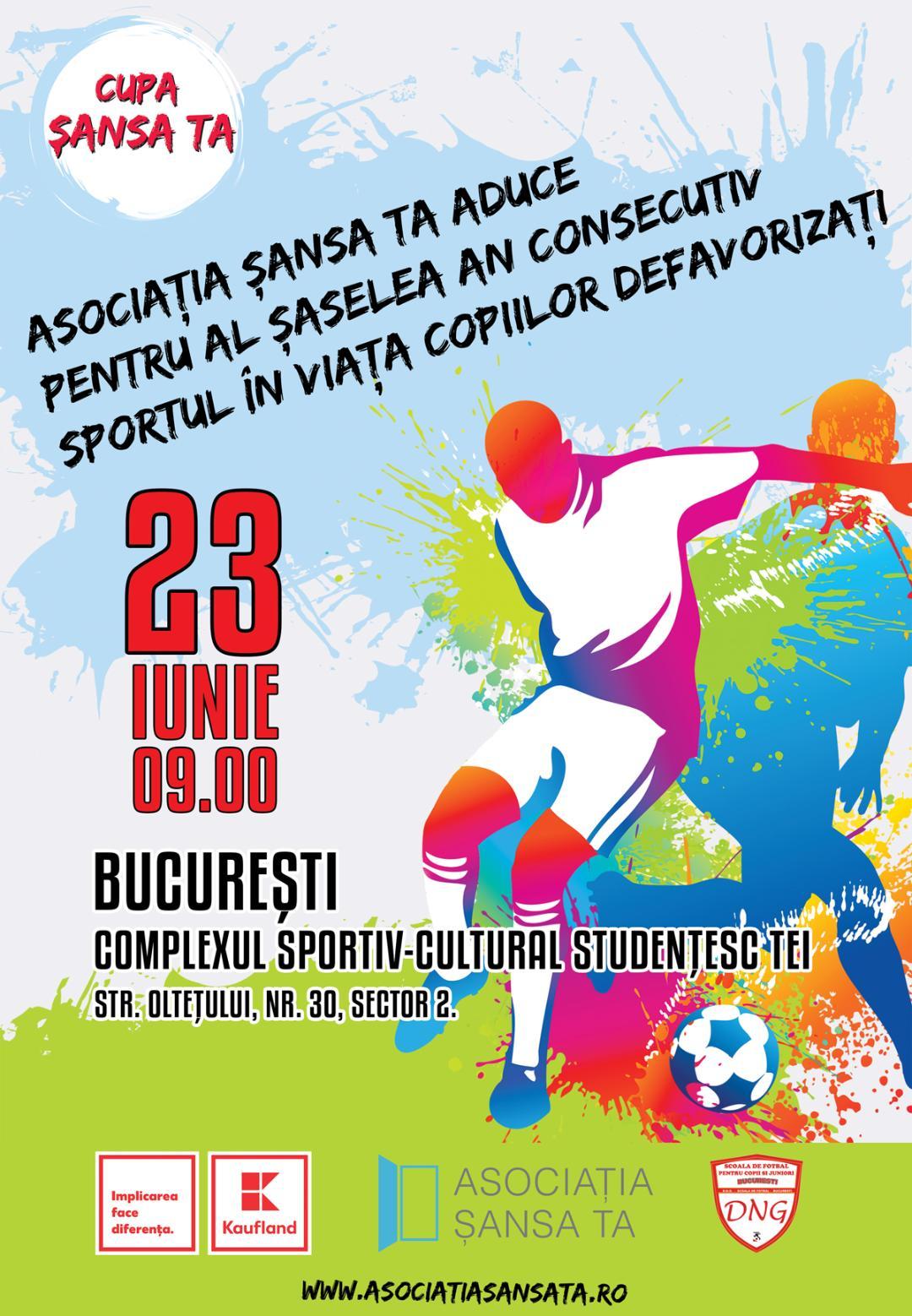 Competiţie de fotbal pentru copiii din centrele de plasament