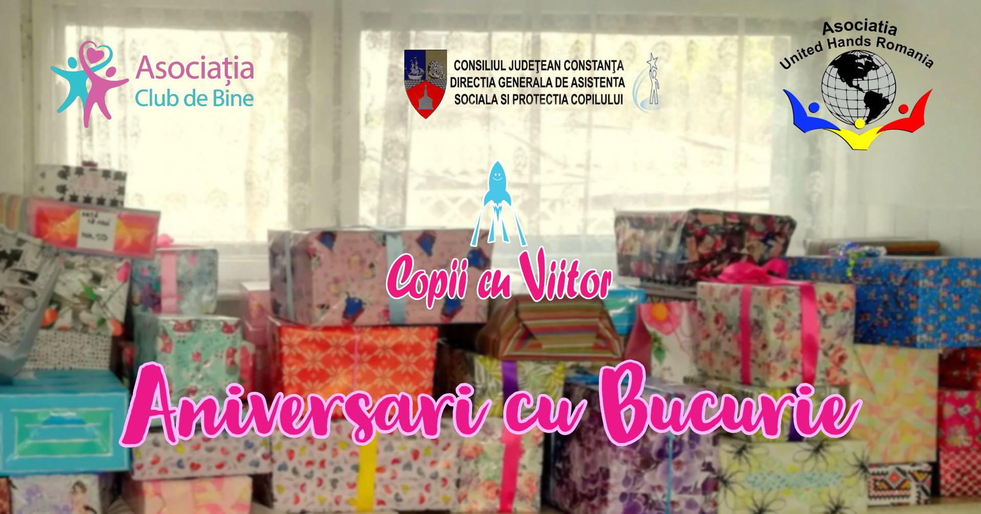 Aniversări cu bucurie - cadouri pentru copiii fără familie alături, în programul Copii cu Viitor
