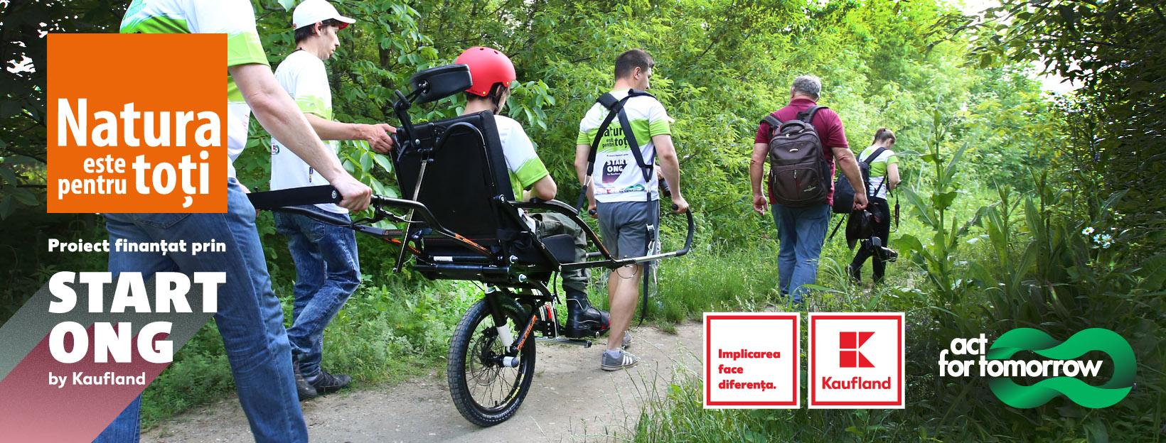 Primul proiect din România pentru accesul  în natură al persoanelor cu dizabilități motorii