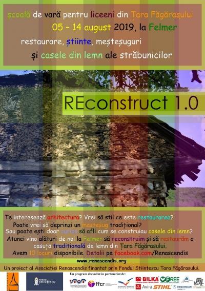 REconstruct 1.0: Școală de vară la Felmer pentru liceeni din Țara Făgărașului
