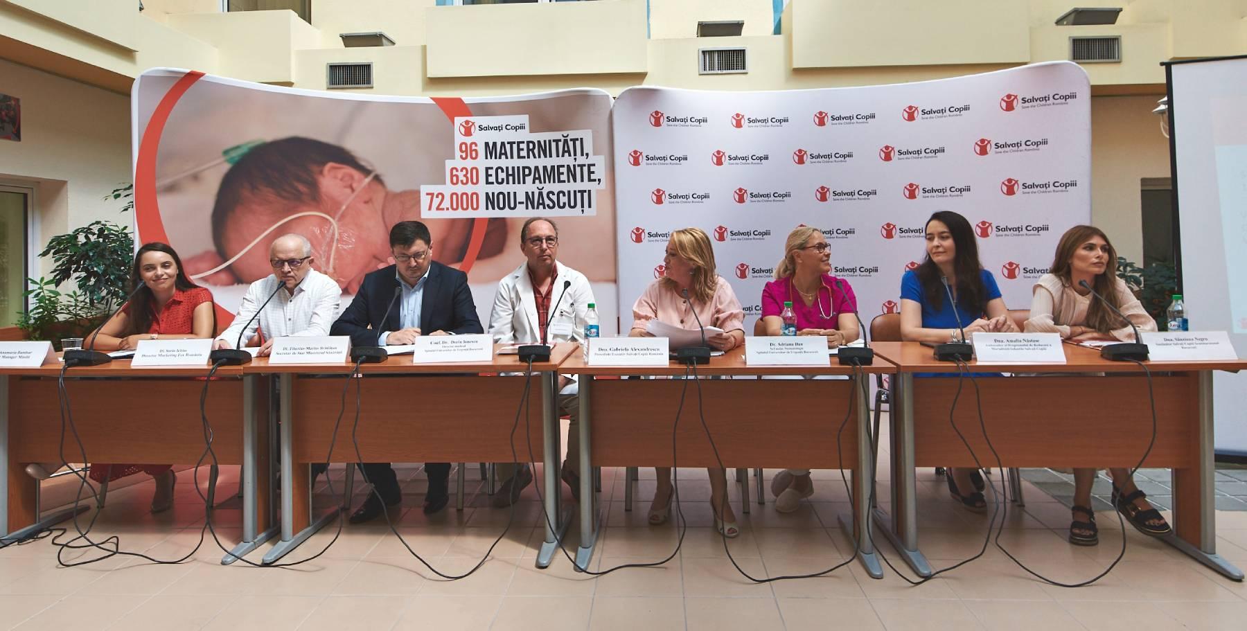 Salvați Copiii dotează Secția de Neonatologie a Spitalului Universitar de Urgență București