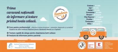 Prima caravană de informare și testare gratuită pentru boala celiacă în România