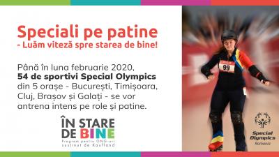 Programul �Speciali pe Patine – Luăm viteză spre starea de bine� va fi demarat de Special Olympics în cinci orașe