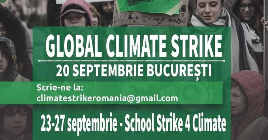 Protestul global împotriva crizei climatice ajunge și în România
