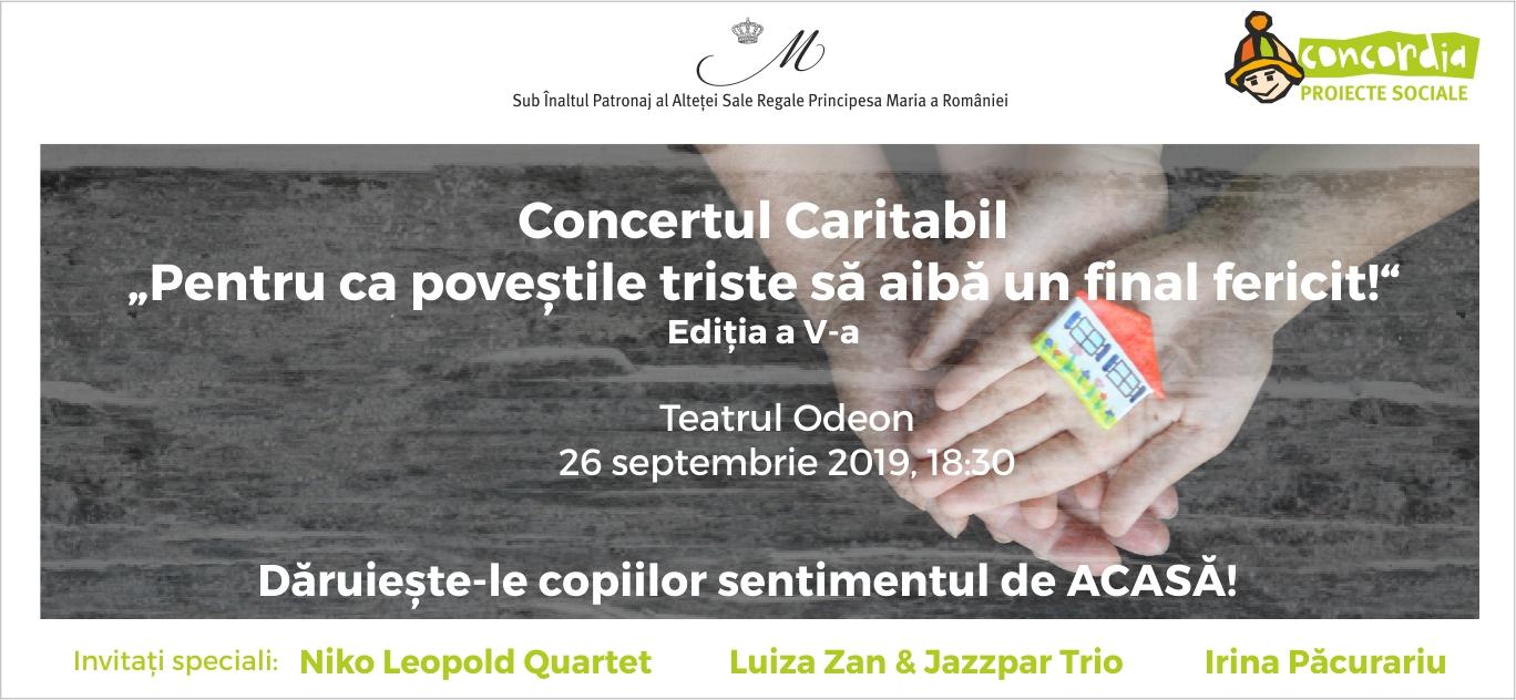 """Concertul Caritabil """"Pentru ca poveștile triste să aibă un final fericit!"""" la a V-a ediție"""