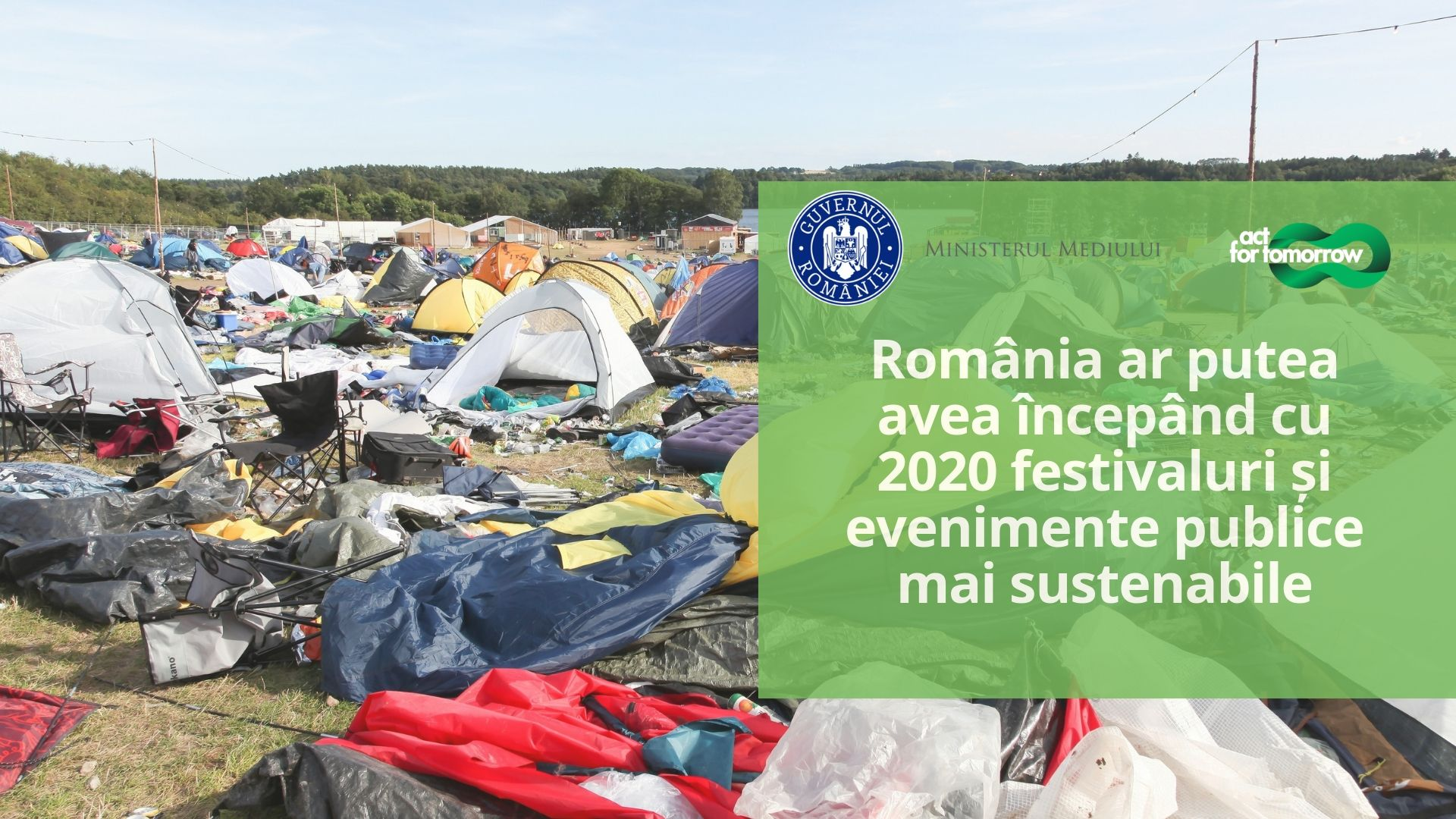 Nou proiect de lege pentru festivaluri È™i evenimente publice sustenabile pentru mediu