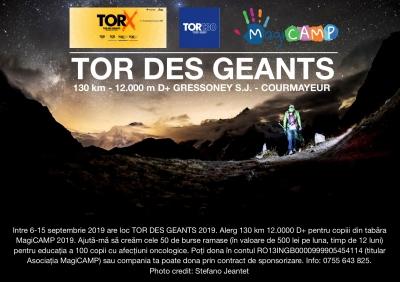 Vlad Crisan-Pop alearga 130 km cu 12.000 D.N. la Tor des Geants Italia pentru copiii din tabăra MagiCAMP