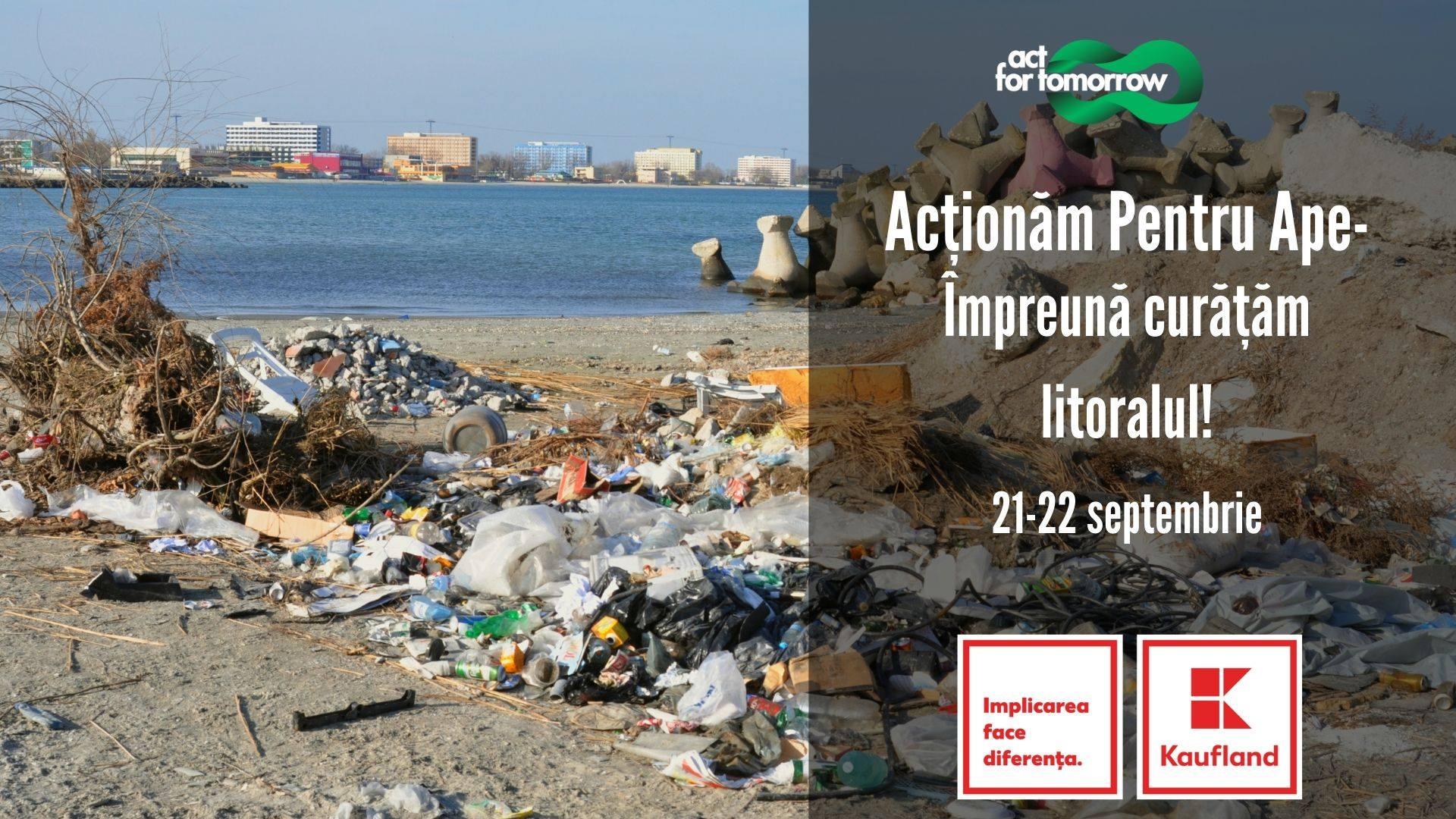 Începe programul de curățare de deșeuri a litoralului Mării Negre și a apelor din țară