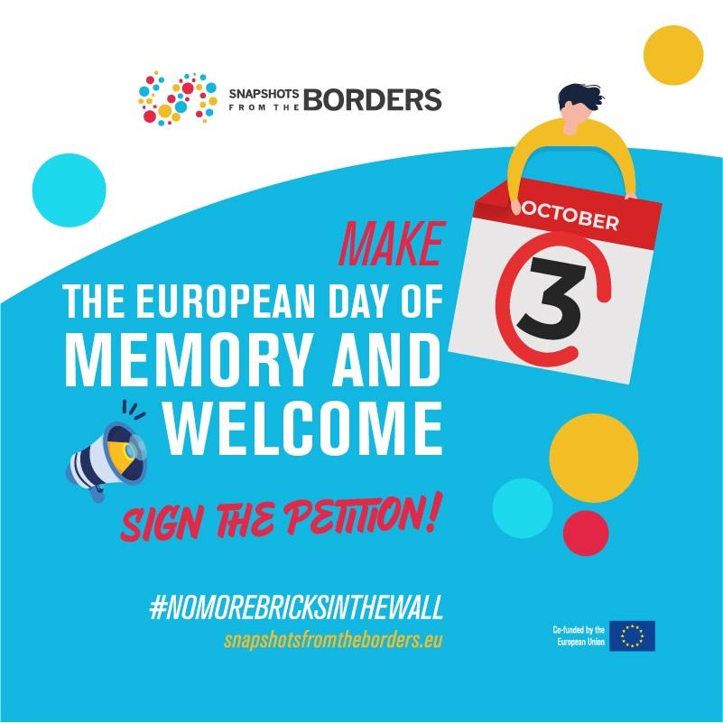 """Petiția """"Sa declaram 3 octombrie Ziua europeană de Aducere aminte și bun venit pentru refugiați și migranți!"""""""