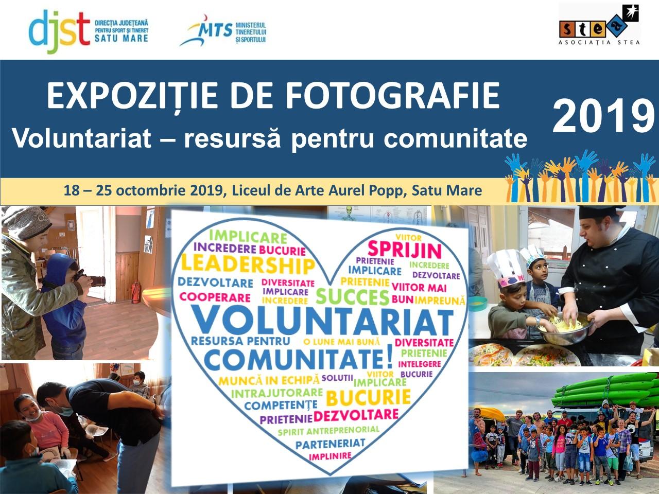 """Expoziție de fotografie """"Voluntariat - resursă pentru comunitate 2019�"""