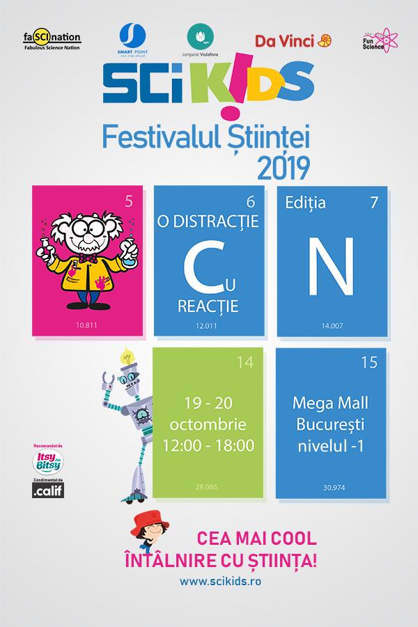 Festivalul Științei SCIKIDS - O distracție cu Reacție are loc în weekend la Mega Mall