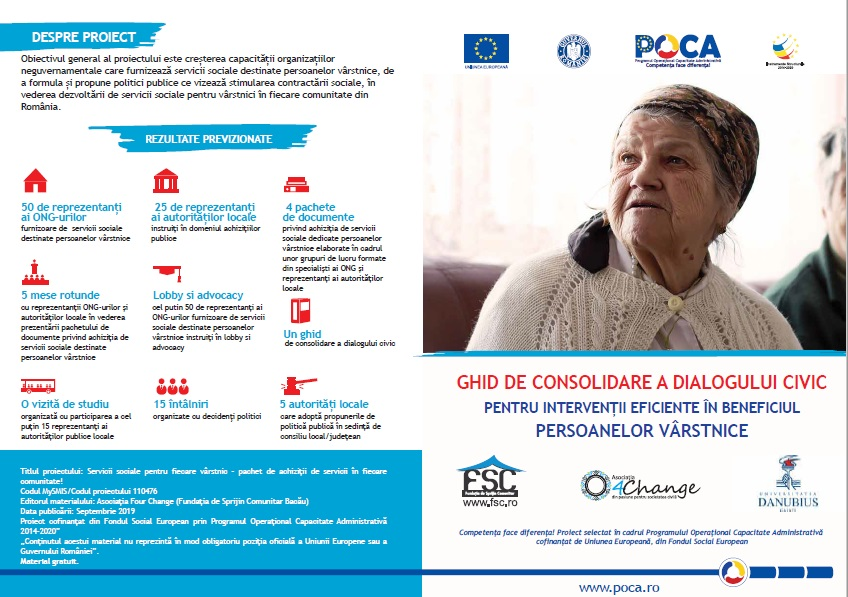 Ghid de consolidare a dialogului civic pentru intervenții eficiente în beneficiul persoanelor vârstnice