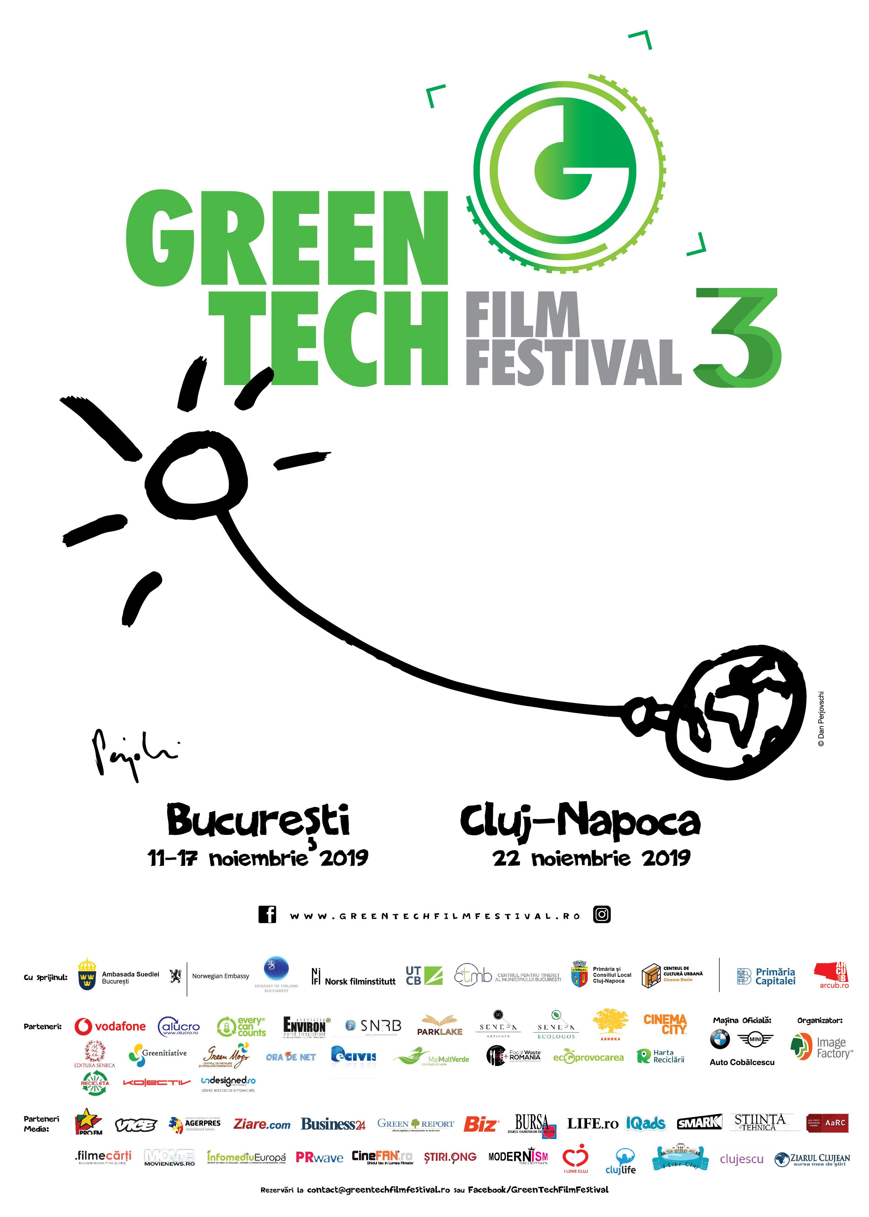 GreenTech Film Festival 2019  - opt zile cu proiecţii de film documentar, expoziţii, dezbateri şi ateliere