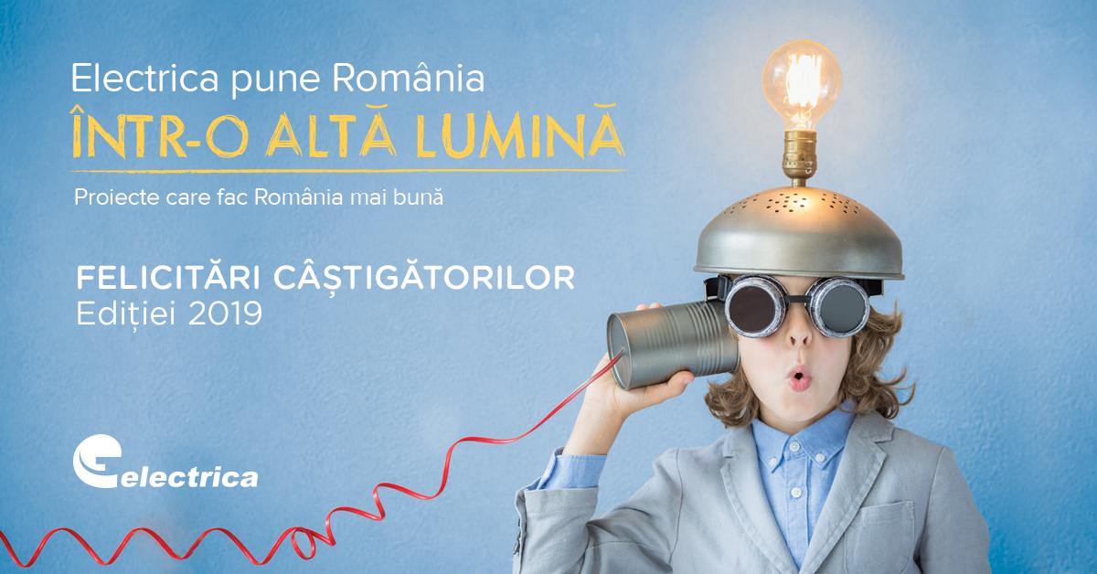 """Programul de Granturi """"Electrica pune România într-o altă lumină"""" și-a desemnat câștigătorii ediției 2019"""