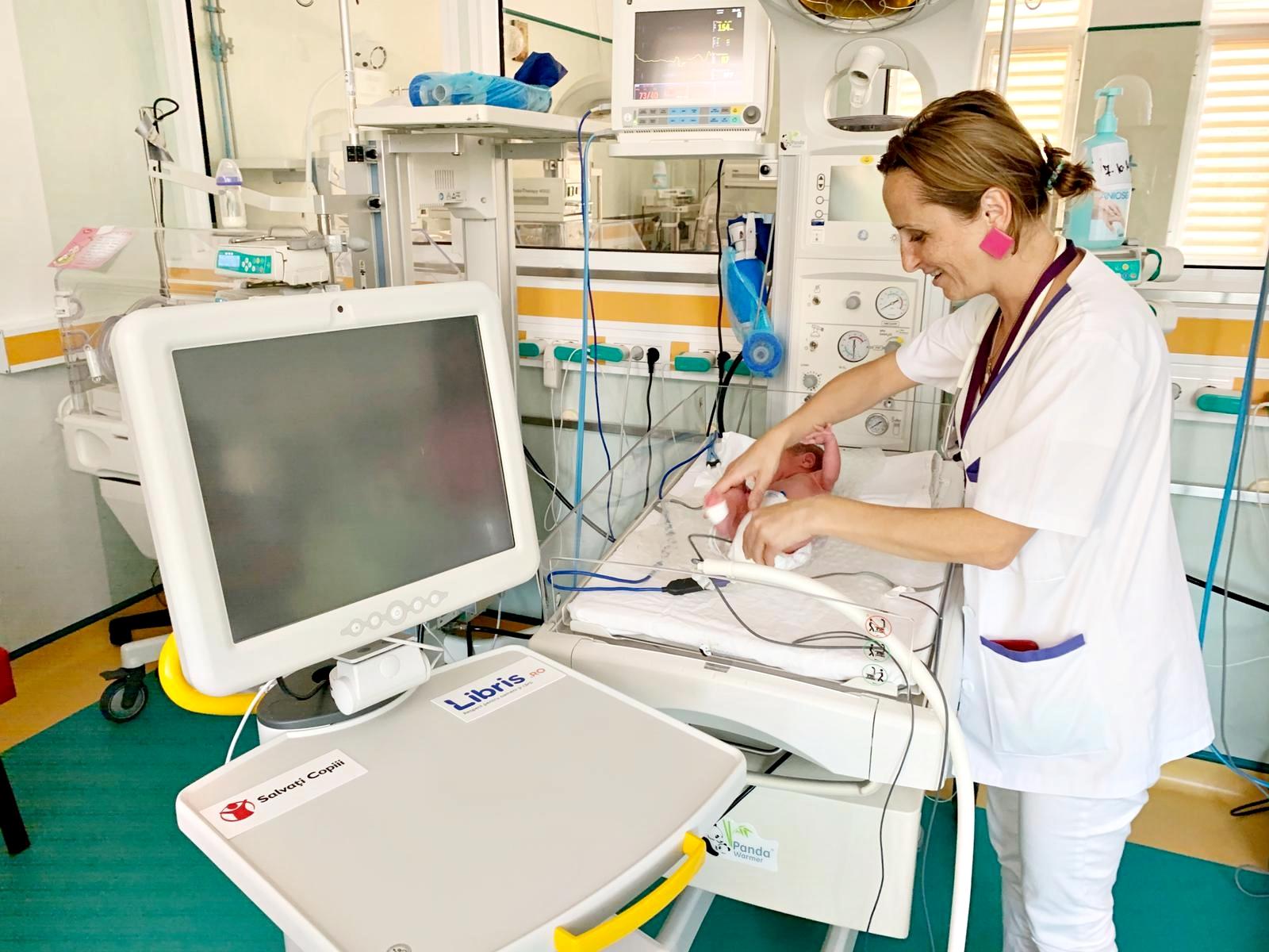 Salvați Copiii, donație importantă pentru Clinica de Neonatologie a spitalului Elias