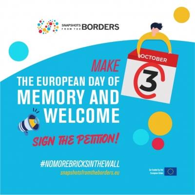 Petiția �Sa declaram 3 octombrie Ziua europeană de Aducere aminte și bun venit pentru refugiați și migranți!�