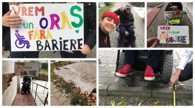 Persoanele cu dizabilități vor un Focșani fără bariere