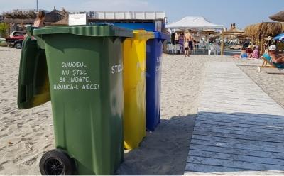 Proiectul �Azi Pentru Mâine� pe plaje, încheiat: peste 7.000 de kilograme de deșeuri colectate separat de pe litoral în trei luni