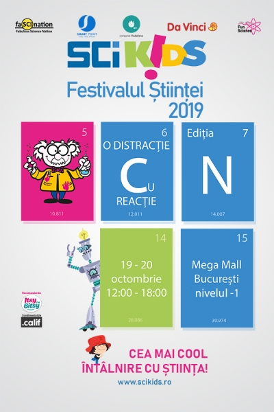 Festivalul Științei SCIKIDS - O distracție cu Reacție are loc în weekend la Mega Mall