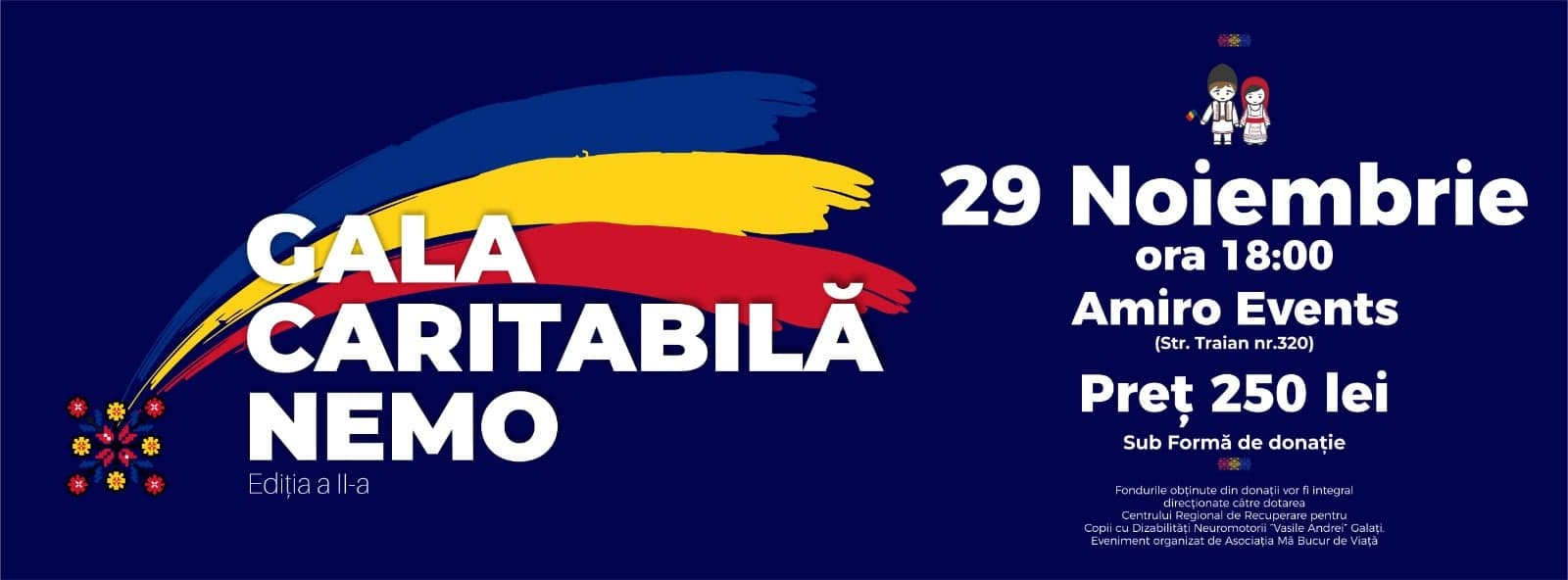 Asociatia Mă Bucur De Viață organizează Gala Caritabilă NEMO ediția a II a