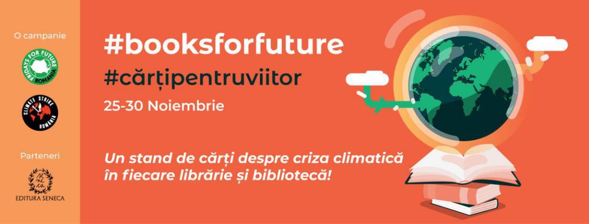 Cărți despre criză climatică în librării și biblioteci!