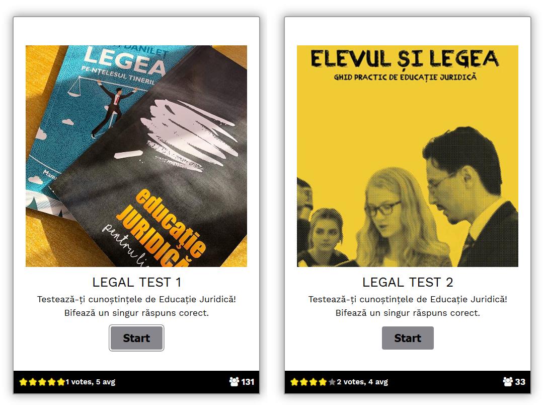 Asociația VeDem Just lansează LEGAL Test,  teste grilă de educație juridică