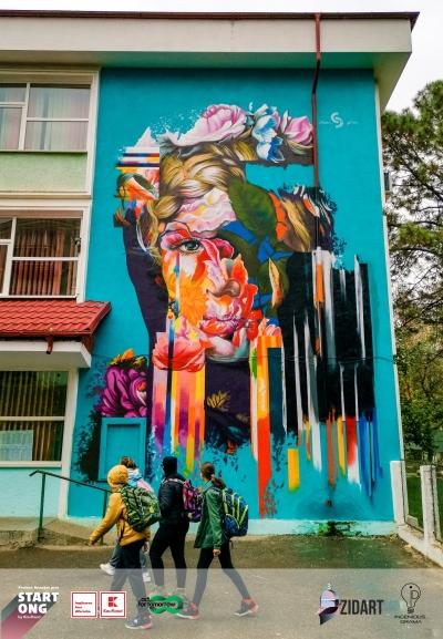 Bacăul, orașul cu cele mai multe picturi murale care purifică aerul din Europa