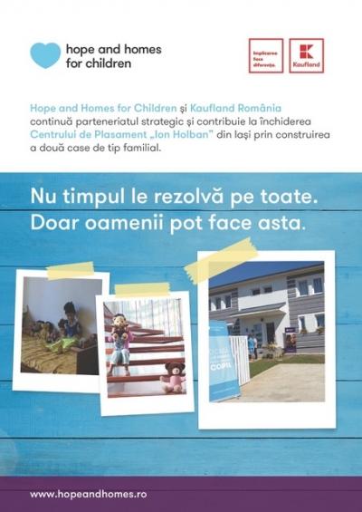 Program de închidere a instituțiilor de tip vechi (orfelinate) desfășurat de Hope and Homes for Children în județul Iași