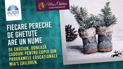 De sărbători, dăruiește un cadou copiilor susținuți de Asociația Mia's Children, la Plaza România