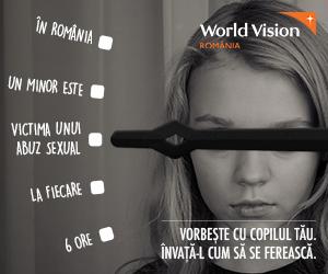 SONDAJ World Vision România. 40% dintre copii nu ar vorbi cu părinții dacă ar fi martori sau victime ale unui abuz sexual, deşi 1 din 6 copii are prieteni sau colegi care au fost abuzați sexual