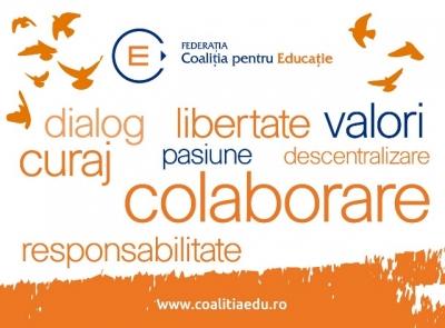 Coaliția pentru Educație susține o școală de calitate, care nu se oprește trei luni pe an!