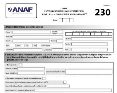 Formularul 230: Surprize ascunse pentru ONG-uri în Ordinul Preşedintelui Agenţiei Naţionale de Administrare Fiscală nr. 147/2020