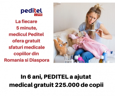 Bilant 2019 - PEDITEL, sfat medical pediatric prin telefon, gratuit, non stop