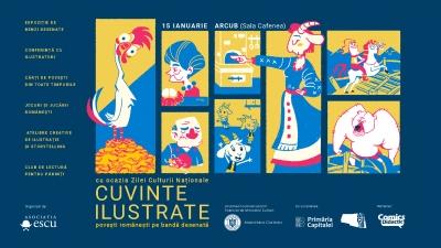 Cuvinte ilustrate: povești românești pe bandă desenată, un eveniment dedicat Zilei Culturii Naționale, 15 ianuarie