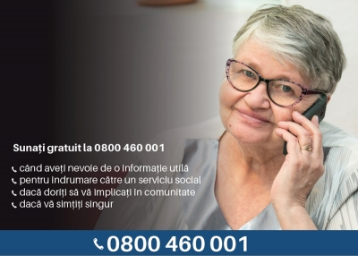 Telefonul Vârstnicului semnalează că izolarea socială a persoanelor vârstnice devine din ce în ce mai pronunțată