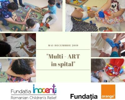 """Peste 700 de copii spitalizați sprijiniți prin proiectul """"Multi-ART în spital�"""