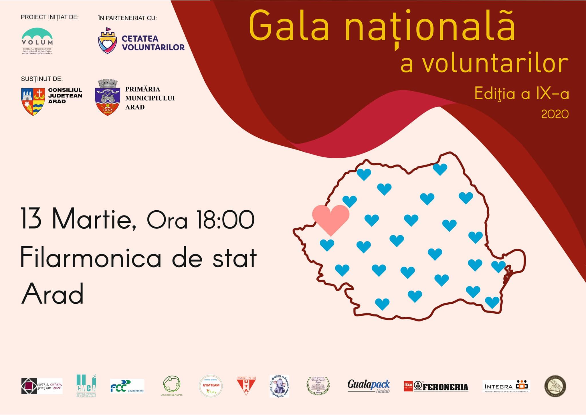 Voluntarii care schimbă în bine România, premiati la  Gala Natională a Voluntarilor 2020