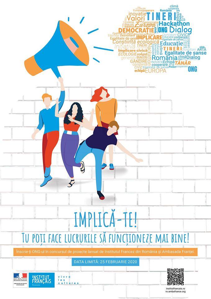 Concurs de proiecte 2020: Sprijin pentru iniÈ›iativele civice ale tinerilor