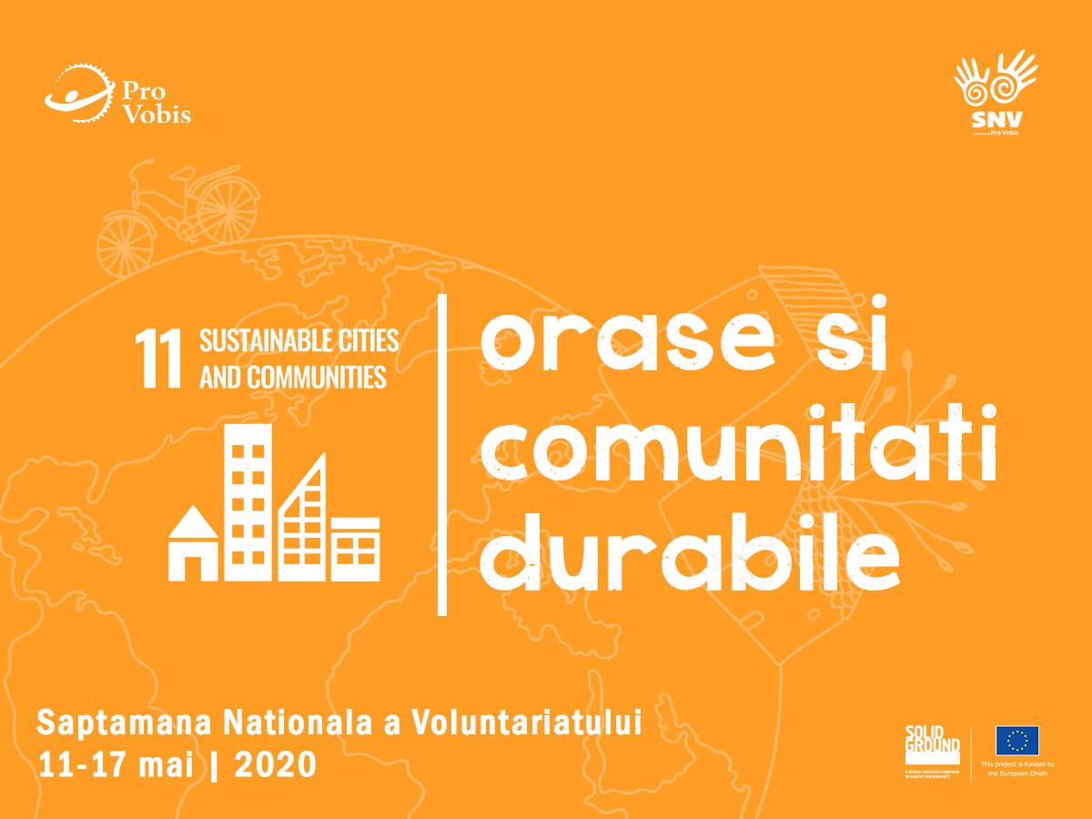Voluntariat pentru Orașe și Comunități Durabile în Săptămâna Națională a Voluntariatului