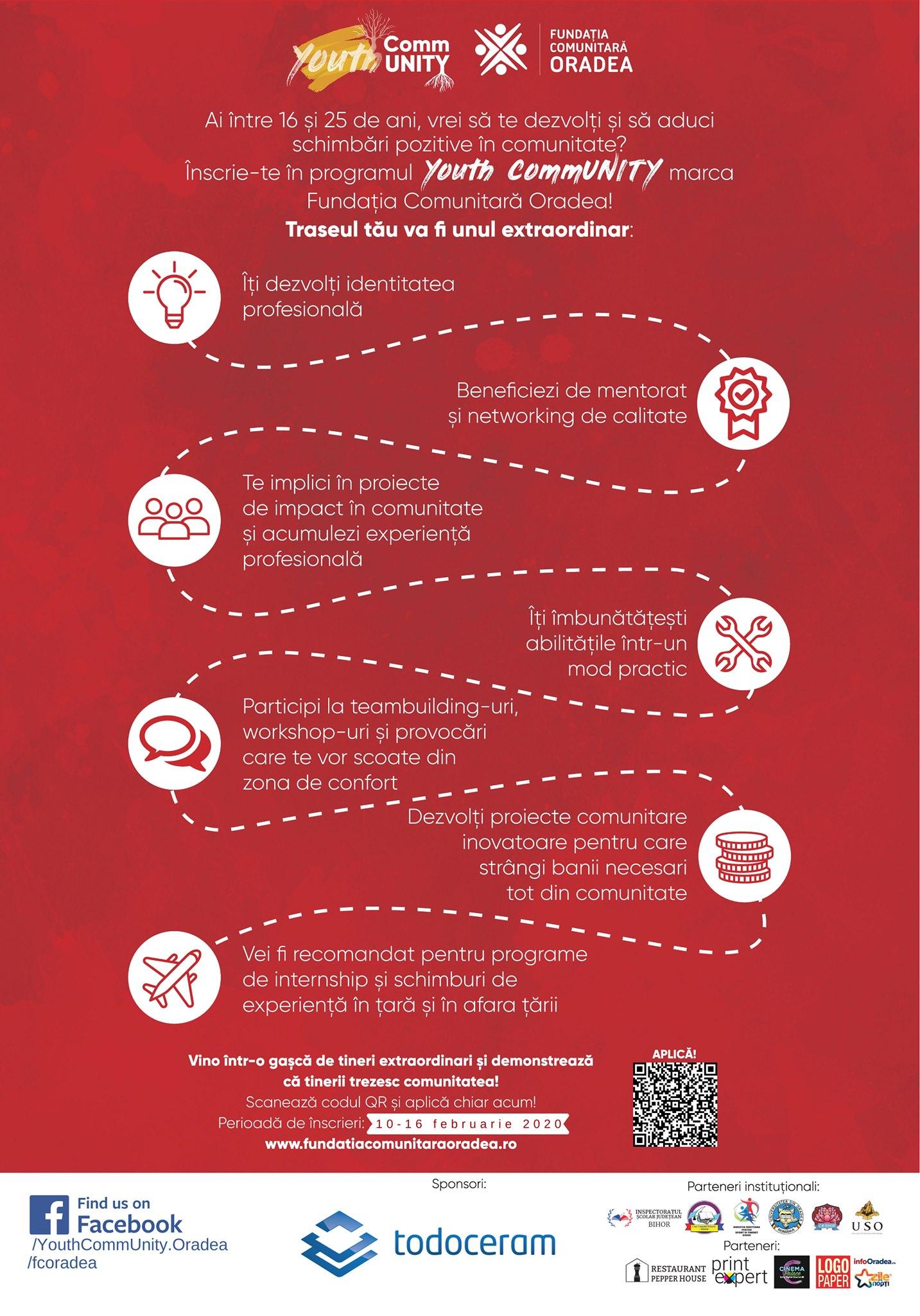 Fundația Comunitară Oradea lansează a doua ediție Youth CommUNITY