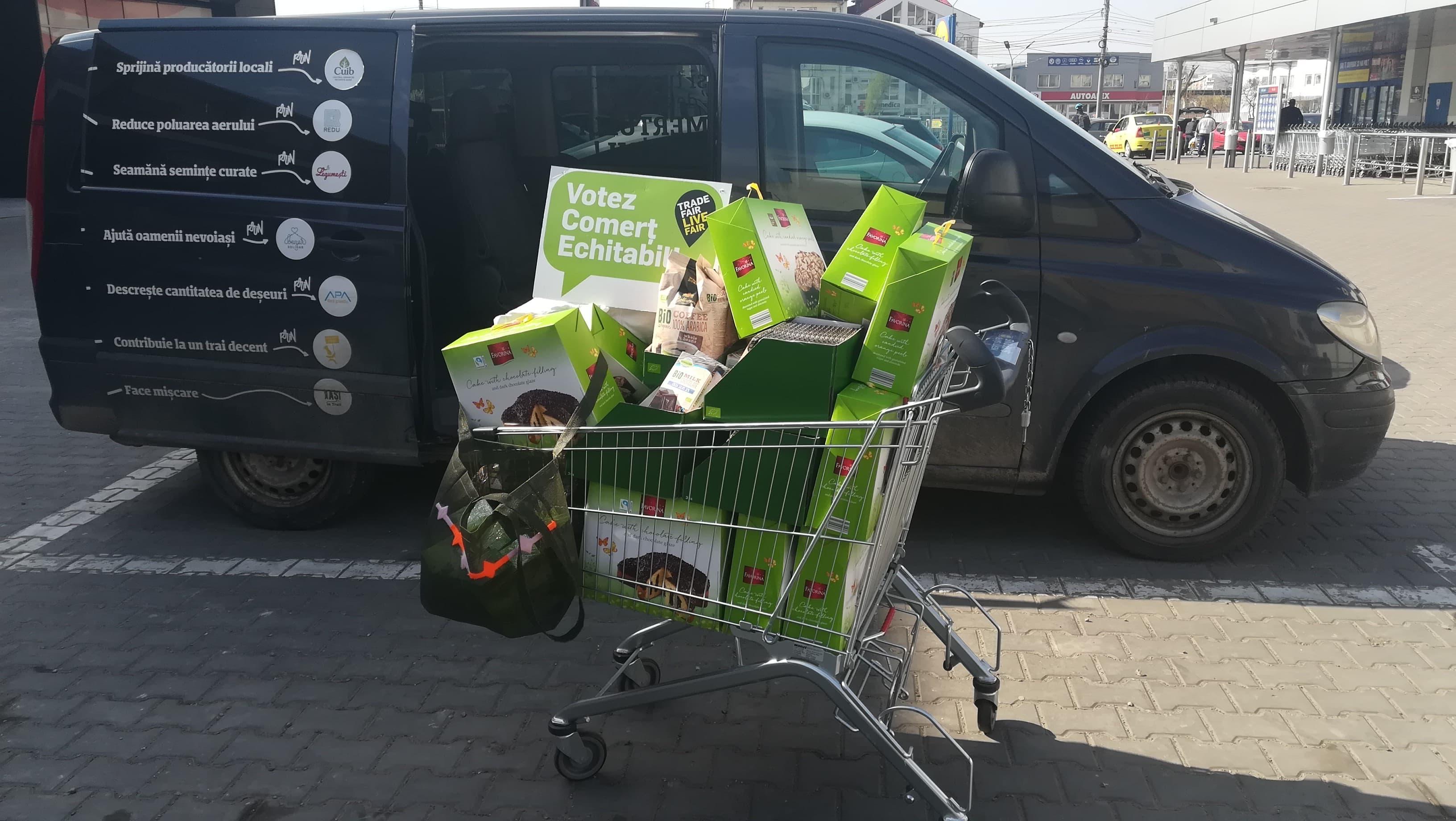 DonaÈ›ie de produse FAIR TRADE pentru persoane vulnerabile