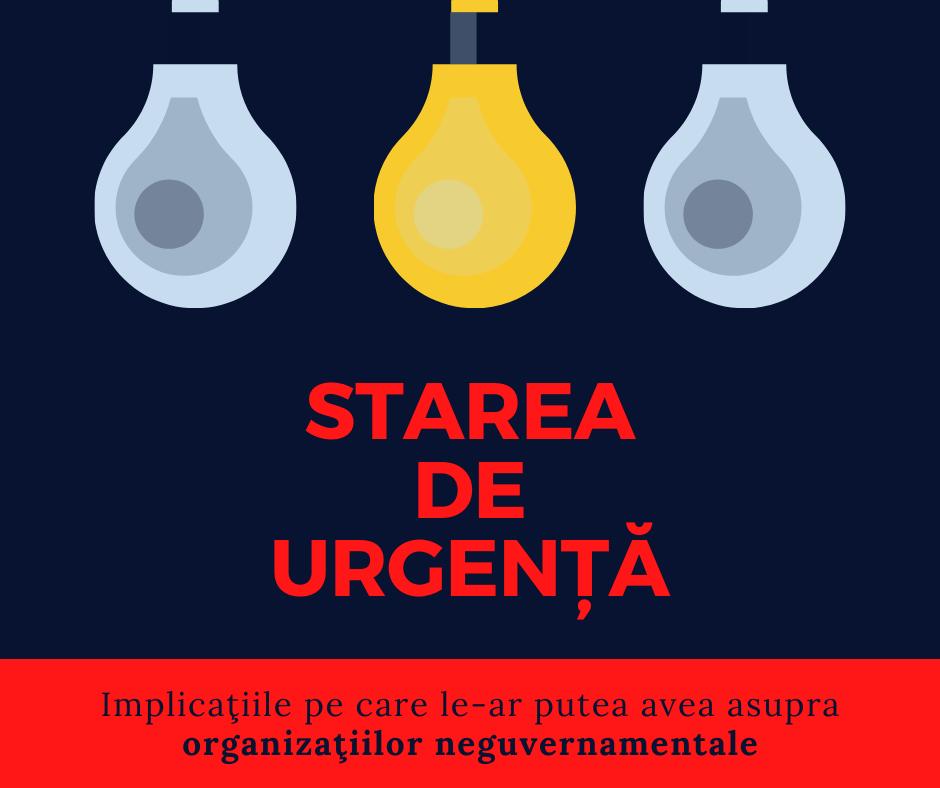 Starea de urgenţă şi implicaţiile pe care le-ar putea avea asupra organizaţiilor neguvernamentale