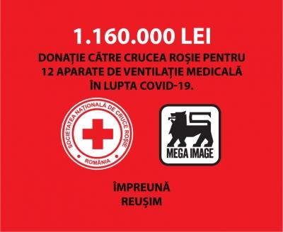1.160.000 de lei către Crucea Roșie Română pentru achiziția a 12 echipamente de ventilație medicală