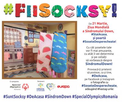 Special Olympics România te provoacă să porți #SoseteDesperecheate de Ziua Mondială a Sindromului Down (21 martie)