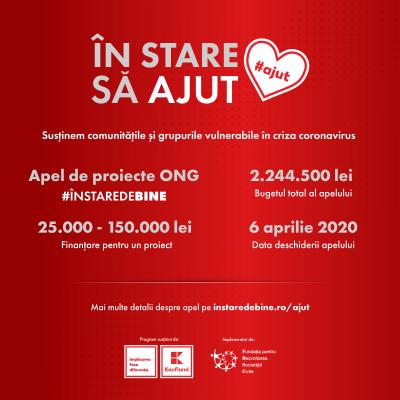 Kaufland România direcționează o jumătate de milion de euro din programul În stare de bine către proiecte din întreaga țară care ajută comunitățile afectate de criza coronavirus