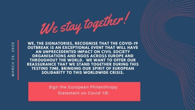 European Philanthropy Statement on COVID-19
