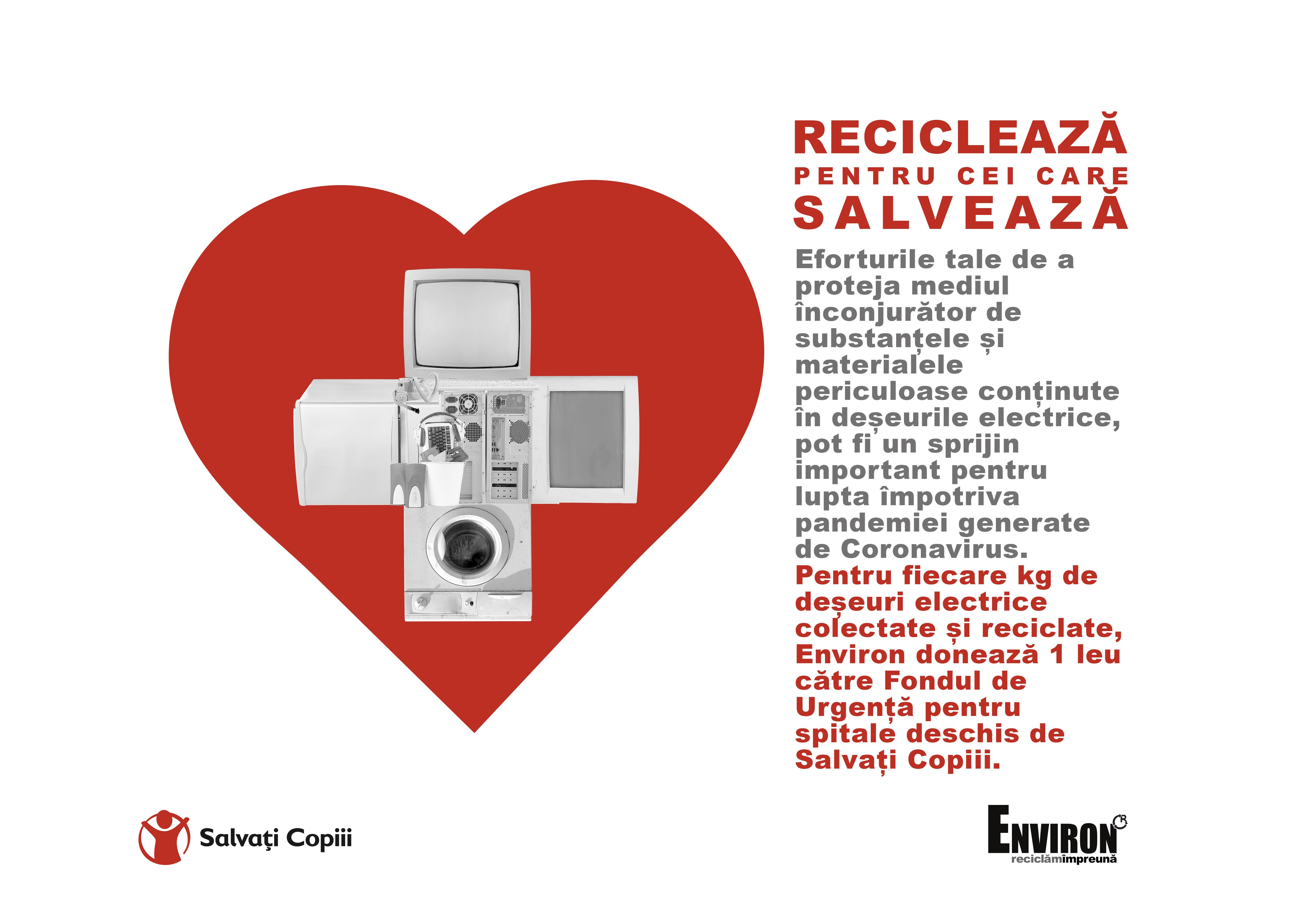 Reciclează pentru cei care salvează